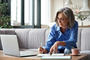 a woman looks at her independent senior living options